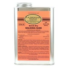 L.A. GOLD LEAF - Quick-Dry Gilding SIZE  ADHESIVE  Oil Base (Size:32 oz.)