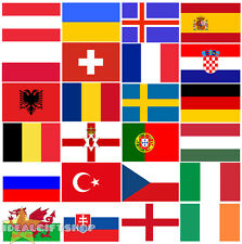 EURO FOOTBALL 2016 COUNTRY BUNTING 33FT LARGE FLAG DECORATION 20 NATIONAL FLAGS