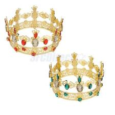 Gold Wedding Bridal Tiara Rhinestone Crystal Queen Crown Pageant Prom Headband