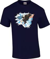 Patiotic Bald Eagle US Flag T-Shirt