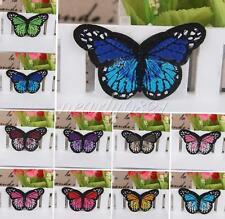 Butterfly Embroidered Motif Applique Iron On Sewing Cloth Patch DIY Accessory