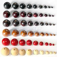 50Pcs of Round Wooden Beads DIY Jewelry Making Necklace Craft Supply Findings