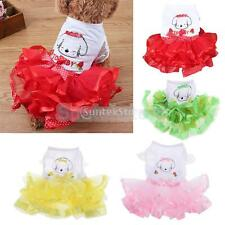 Small Dog Cat Bow Tutu Dress Lace Skirt Puppy Princess Costume Apparel Clothes