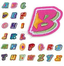 Colorful Letters A-Z Embroidered Applique Cloth Iron On Sew Patch DIY Accessory