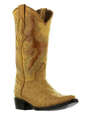 mens yellow butter white ostrich exotic crocodile western leather cowboy boots