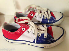 Size 11.5 CONVERSE AllStar Low Tops RED WHITE & BLUE Kids