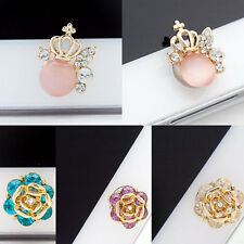 Luxury Fashion 3D Crystal Bling Diamond Home Button Cute Sticker For iPhone New