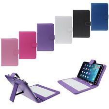 For Tablet PC 7 inch Universal Leather Case Cover with Micro USB Keyboard Stand
