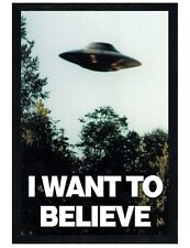 Black Wooden Framed The X-files I Want To Believe Maxi Poster 61x91.5cm