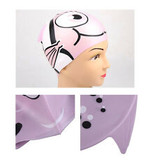 Cute Lovely Cartoon Silicone Swimming Cap Kids Waterproof Bobofish Style Fashion