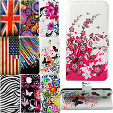 Flip Folding Stand Card Slots Wallet PU Leather Case Cover For Many Phone Models