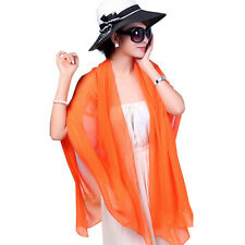 Outdoor Women's Chiffon Scarf Wrap Sunscreen Shawl Stole Lengthen Beach Scarves
