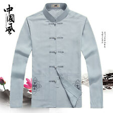 Men New Arrival Outerwear Chinese Traditional Kung-Fu Suit Jacket Coat M-3XL