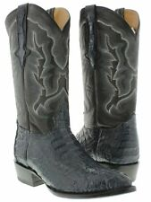 mens blue real crocodile alligator j toe cowboy leather boots western rodeo