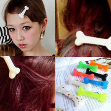Fashion Lovely Women Gril Vivid Dog Bone Hair Clips Side Hairpin Colorful Cute
