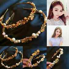 Fashion Womens Metal Pearl Head Chain Headband Head Piece Hair Band Jewelry Gift