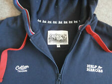 COTTON TRADERS Mens Official HELP FOR HEROES HOODIE~Navy~4XL~XXXXL