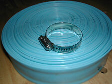 """Swimming Pool Discharge Backwash  1-1/2"""" PVC Hose with Metal Clamp"""