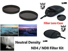 F269 62mm Neutral Density ND4 ND8 Filter Kit & Case for CAMCORDER CAMERA LENS