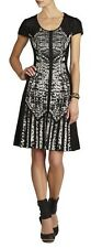 NWT BCBG MAXAZRIA KRISTAL BLACK COMBO DRESS SZ.M
