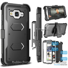 Belt Clip Holster Stand Case Cover W/Built-in Screen Protector for Samsung Phone