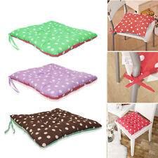2X TIE ON CUSHIONS WITH TWO SIDED POLKA DOT SPOT COTTON SEAT PAD DINING UK