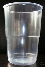 250 x 570ML STRONG PLASTIC PINT GLASSES CUPS - NEXT DAY DELIVERY ONLY £3.95