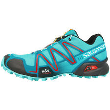 SALOMON SPEEDCROSS 3 WOMEN TRAIL RUNNING SHOES OUTDOOR SHOES AZURIN BLUE 379058