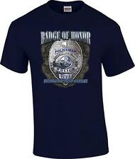 Badge of Honor Protect and Serve Policeman Police Officer T-Shirt