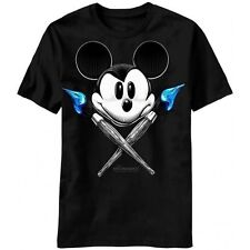 EPIC MICKEY 2 POWER OF TWO BOTH BRUSHES BLACK COLOR LICENSED T-SHIRT