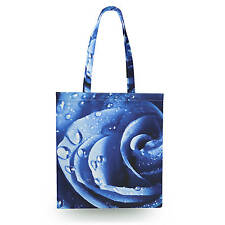 Blue Roses Canvas Tote Bag - 16x16 inch Book Gym Bag