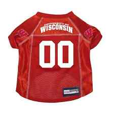 NEW WISCONSIN BADGERS PET DOG PREMIUM JERSEY w/NAME TAG ALL SIZES LICENSED