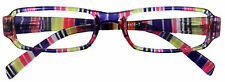 PINK CLEAR STRIPE READING GLASSES IN DIFFERENT LENS STRENGTHS STYLISH SPECTICLES