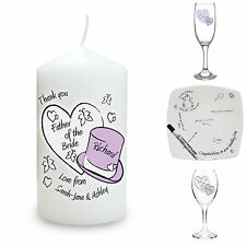Personalised Hearts & Hats Wedding Presents Thank You Gifts Cards Favours Ideas