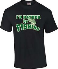 I'd Rather Be Fishing Bass Fisherman Fish T-Shirt