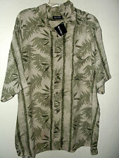 NEW BAMBOO JUNGLE HAWAIIAN SHIRT by PURITAN size XL 2X