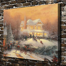 Thomas Kinkade Dusk In The Valley, HD Canvas Print Home wall Art decor