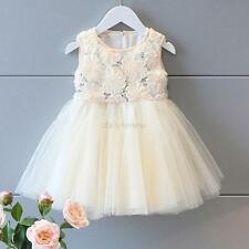 2-6Y Baby Girls Flowers Party Princess Tulle Tutu Dress Child Kid Skirts Pageant