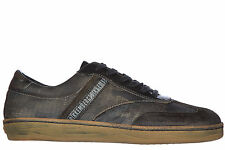 BIKKEMBERGS MEN'S SHOES LEATHER TRAINERS SNEAKERS NEW BANDING 985 VINTAGE GR 962