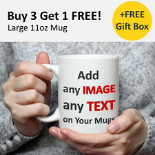 Personalised Mug Photo on Cup Customise Photo and Text Gift Ideas 11oz Mug