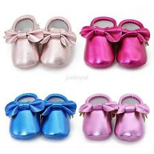 Lovely Bow Baby Girls Toddler Soft Infant Moccasins Shoes PU Leather Shoes 0-18M