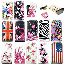Fashion Flip Leather Skin Pouch Cover Case For Samsung Galaxy S3 Mini S4 MINI