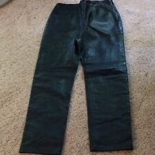 WOMENS MARGARET GODFREY SOFT LEATHER PANTS SIZE 6 VERY SOFT LEATHER