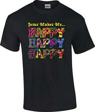 Christian Jesus Makes Me Happy Happy Happy Inspirational T-Shirt