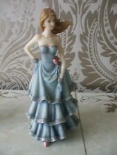 Regency Fine Arts Faye Lady Elegant Figurine Blue Ball Gown 2001 10.5""