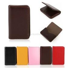New Waterproof Business ID Credit Card Wallet Holder PU Leather Pocket Case Box