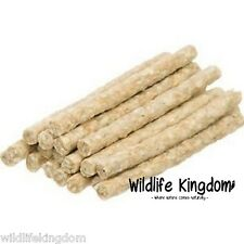 ✔ 0151 Natural Rawhide Munchy Roll Dog Chews Treats 5 Inch 6-8mm Chew Reward  ✔