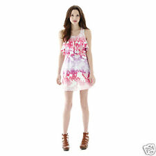L'Amour Nanette Lepore Ruffled Racerback Dress Size XS, M Msrp $48 New