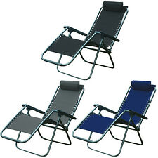 ZERO GRAVITY GARDEN CHAIR TEXTOLINE RECLINING SUN LOUNGER PATIO OUTDOOR RECLINER