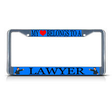 LAWYER STYLE 2 CAREER PROFESSION Metal License Plate Frame Tag Border Two Holes